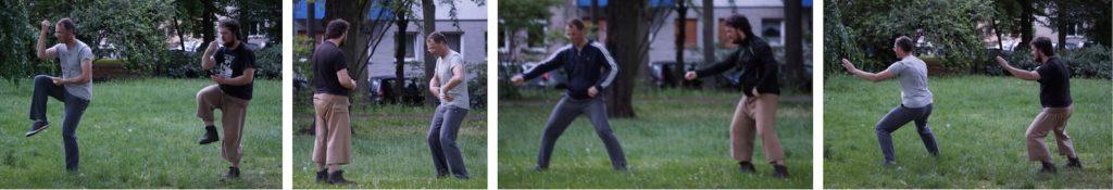 Jens Weinbrecht beim Taijiquan 1:1 Kurs Training - im Stadtpark Nürnberg